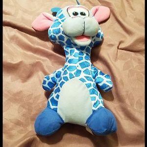 Medium Blue Giraffe Plush
